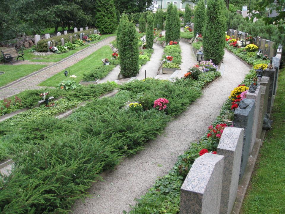 Hietakylän hautausmaa Haminassa.